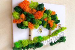 Un peisagist bistrițean introduce în piața locală tablourile din licheni colorați