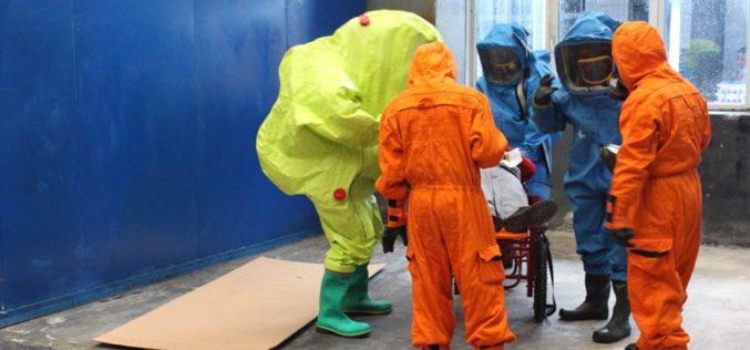 Simulare de explozie a unor acumulări de gaz metan la Rombat