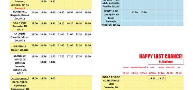 Programul filmelor la Happy Cinema în perioada 17 – 23 ianuarie