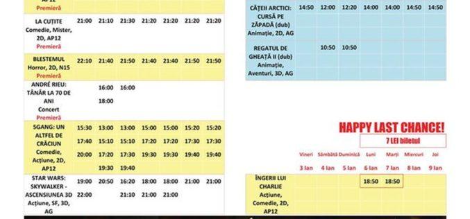 Programul filmelor la Happy Cinema în perioada 3 – 9 ianuarie