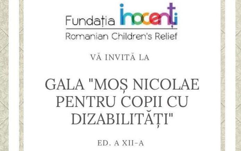 Fundația INOCENȚI organizează miercuri, 5 decembrie, o gală caritabilă pentru copii cu dizabilități