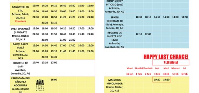Programul filmelor la Happy Cinema în perioada 31 ianuarie – 6 februarie