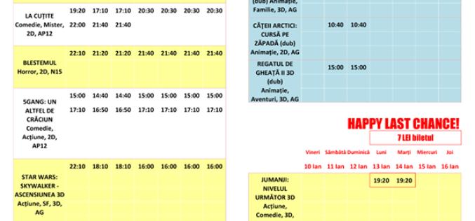 Programul filmelor la Happy Cinema în perioada 10 – 16 ianuarie