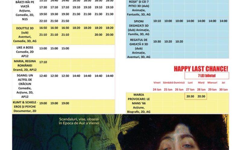 Programul filmelor la Happy Cinema în perioada 24 – 30 ianuarie