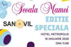 """Sanovil organizează gratuit """"Școala mamei"""" la Hotel Metropolis"""