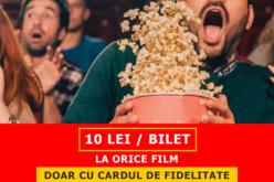 Promoție specială: 10 lei biletul cu cardul de fidelitate la Happy Cinema