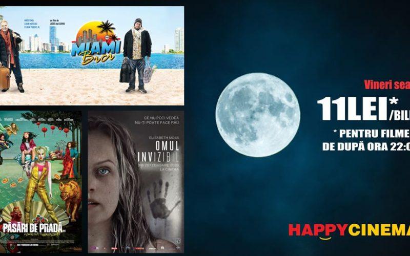 În fiecare vineri la Happy Cinema ai HappyLateHour