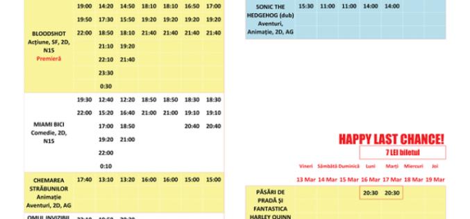 Programul filmelor la Happy Cinema în perioada 13 – 19 martie