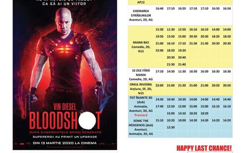 Programul filmelor la Happy Cinema în perioada 6 – 12 martie