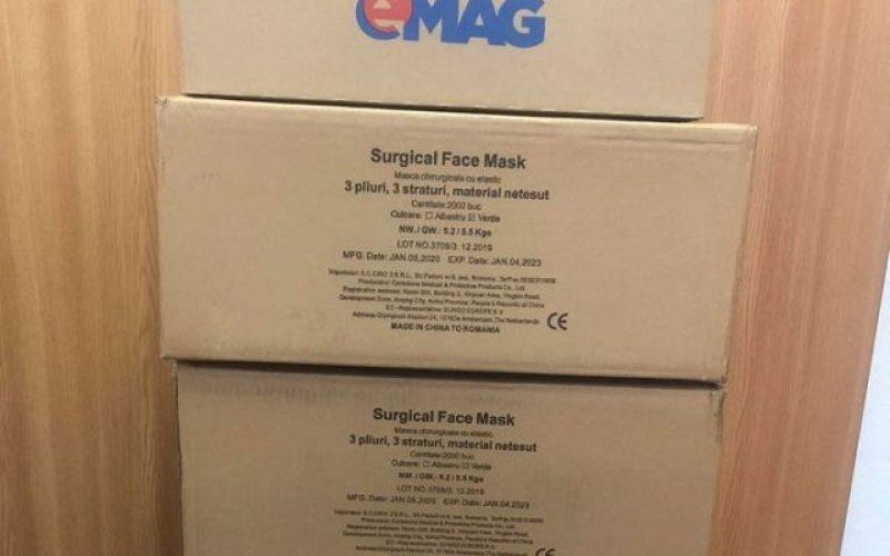 eMAG a donat 8.750 de măști chirugicale Spitalului