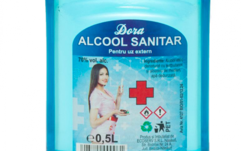 Cât alcool sanitar a vândut ECOSERV Năsăud doar către instituții și companii de stat?