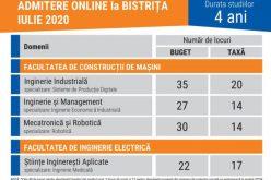 UTCN – Extensia Bistrița are 179 de locuri disponibile. Cum se face admiterea în acest an