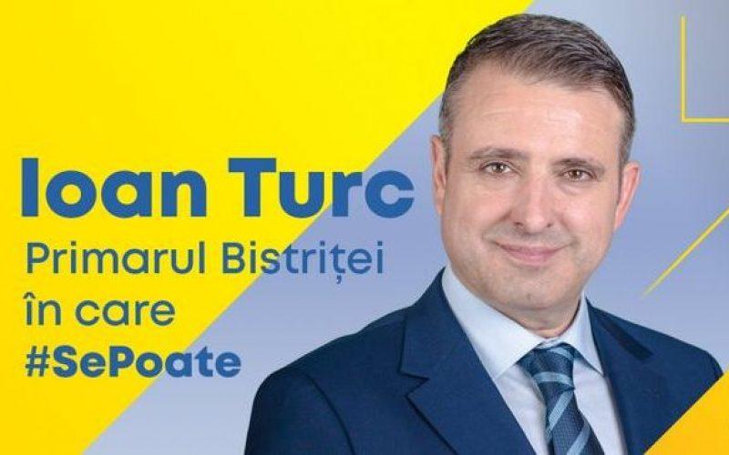 Cu câte voturi a câștigat Ioan Turc fotoliul de primar al Bistriței