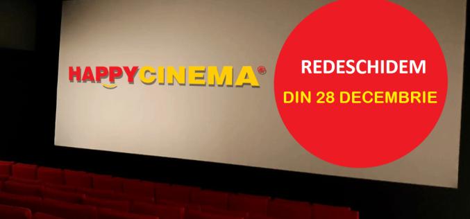 Happy Cinema Bistrița,  redeschis de azi, 28 decembrie!